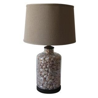 Vintage Coastal Shell Bottle Lamp