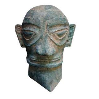Bronze Archaic Warrior Head Mask