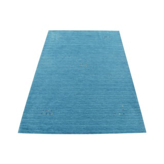 Blue Hand-Knotted Gabbeh Rug - 4′6″ × 6′6″