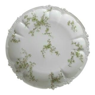 Antique Limoges Haviland Field Green Floral Dinner Plate