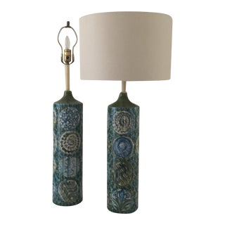 1960's Porcelain Lamps - A Pair
