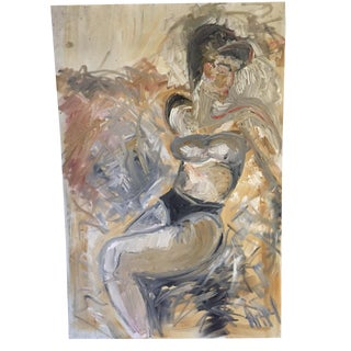 Mid-Century Abstract Nude Painting