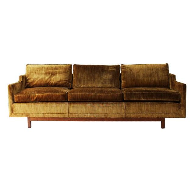 "Mid-Century Modern 101"" Sofa W Solid Walnut Base - Image 2 of 9"