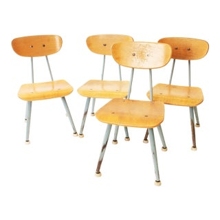 Mid Century Modern Bentwood Child's Chairs - Set of 4