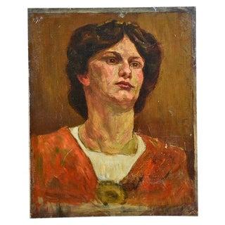 Antique Oil Painting by Anne Fleckenstein