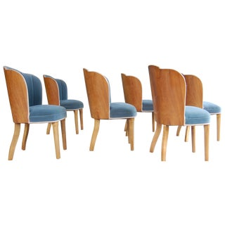 Mid-Century Art Deco Dining Chairs - Set of 6