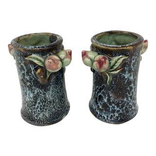 Art Deco Artisan Bud Vases - A Pair