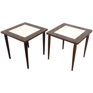 Mid Century Side Tables With Formica Tops - 2