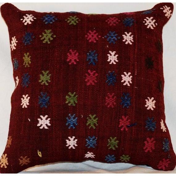 Vintage Bohemian Handmade Kilim Pillow - Image 3 of 7