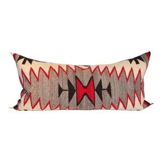 1920s Navajo Eye Dazzler Weaving Bolster Pillow