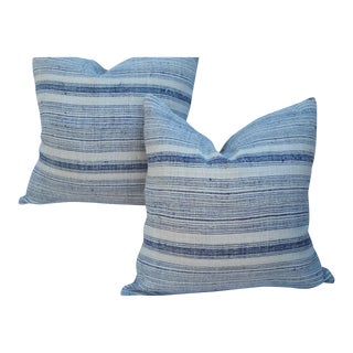 Nubby Striped Hill Tribe Pillows - A Pair