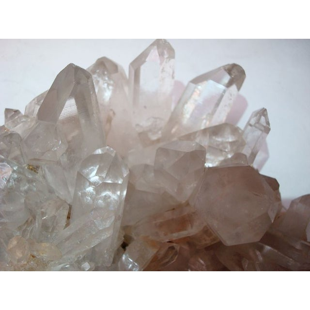 Large Quartz Crystal Cluster with Stand - Image 3 of 7