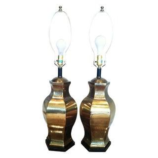 Brass Hexagon Lamps - 2