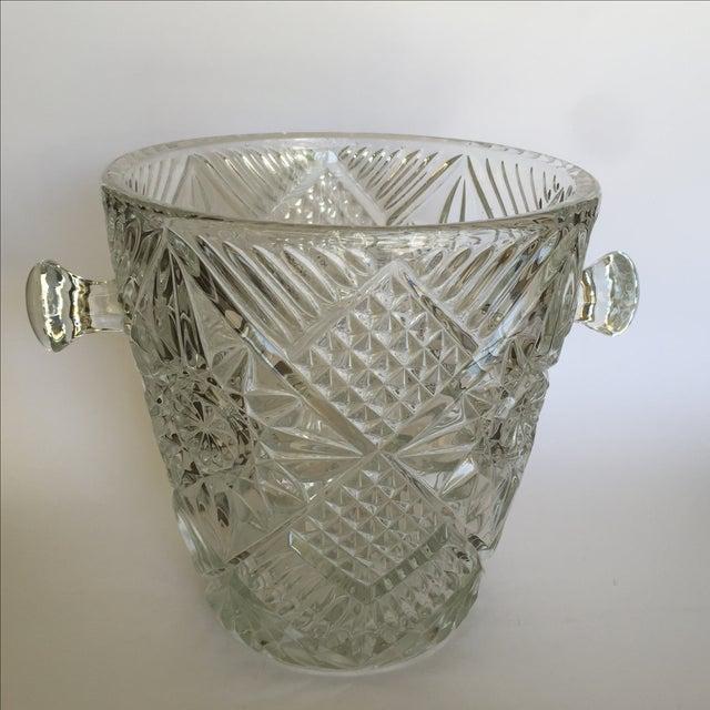 Cut Glass Crystal Ice Bucket - Image 4 of 8