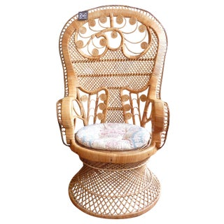 Curly Wicker Throne Chair