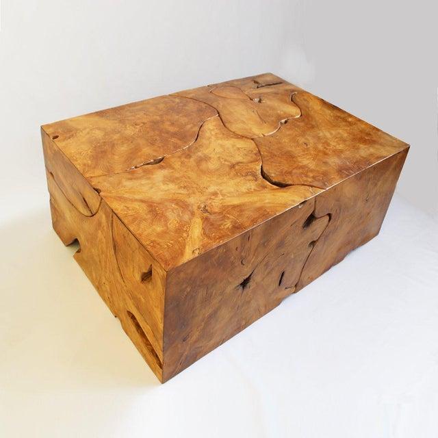 Teak Root Coffee Tables: Teak Root Box Coffee Table