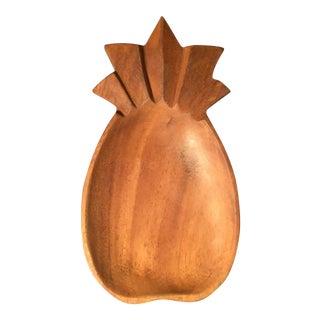 Vintage Teak Wood Pineapple