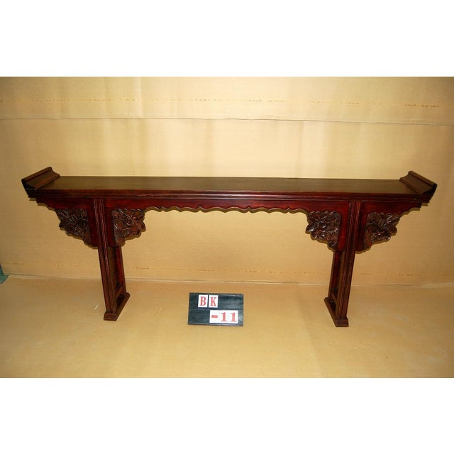 Asian Antique Carved Altar Table - Image 2 of 7