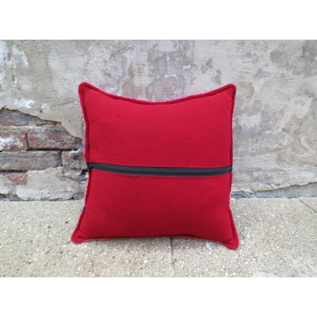 Image of Pink & Purple Peruvian Frazada Pillow
