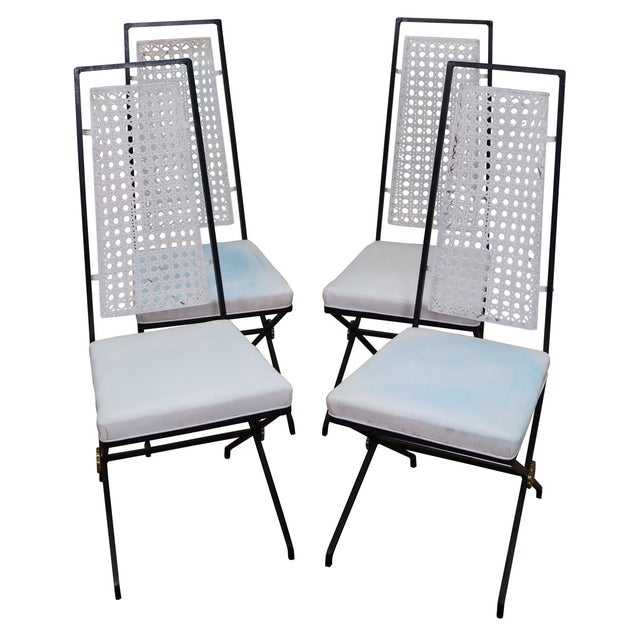 Vintage Hollywood Regency Directoire Dining Chairs - Image 1 of 10