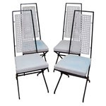 Image of Vintage Hollywood Regency Directoire Dining Chairs