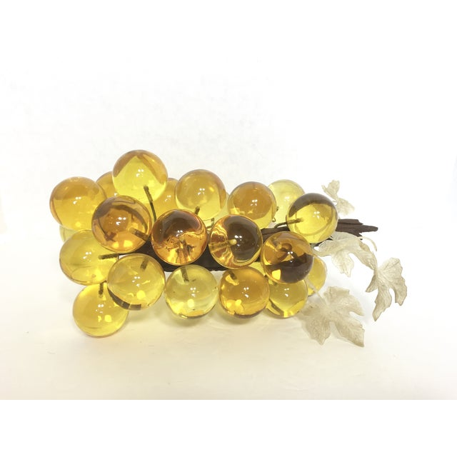Large Yellow Lucite Grapes - Image 2 of 3