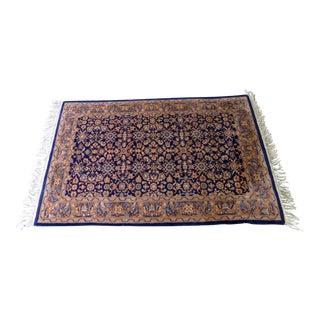 """Vintage Handmade Kashan Wool Rug - 3'9"""" x 6'"""