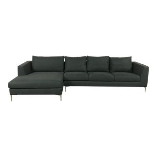 Modern Charcoal Left Chaise Sectional Sofa