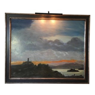 Large San Francisco Bay at Sunset Originl Oil Painting - Grand Scale!