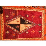 """Image of A Very Old Fine and Rare Vintage Orange Moroccan Azilal Rug - 4'2"""" X 10'"""