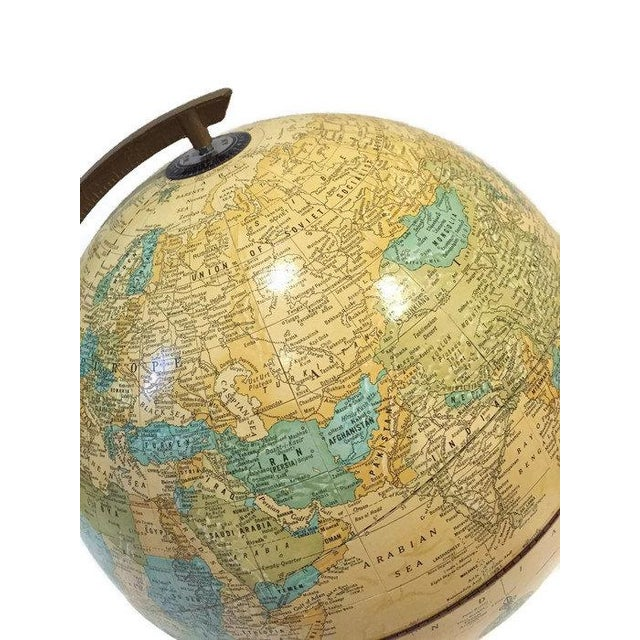 Vintage Crams Imperial World Globe Wood Stand - Image 2 of 6