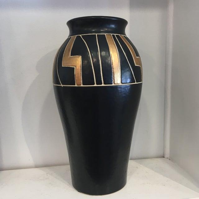 Vintage Black Ceramic Urn - Image 5 of 6