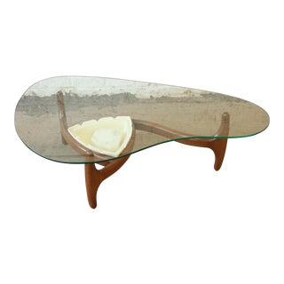 Adrian Pearsall Mid-Century Modern Walnut and Glass Biomorphic Planter Coffee Table