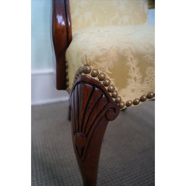 Hickory Co. Mahogany Queen Anne Armchairs - Pair - Image 10 of 10