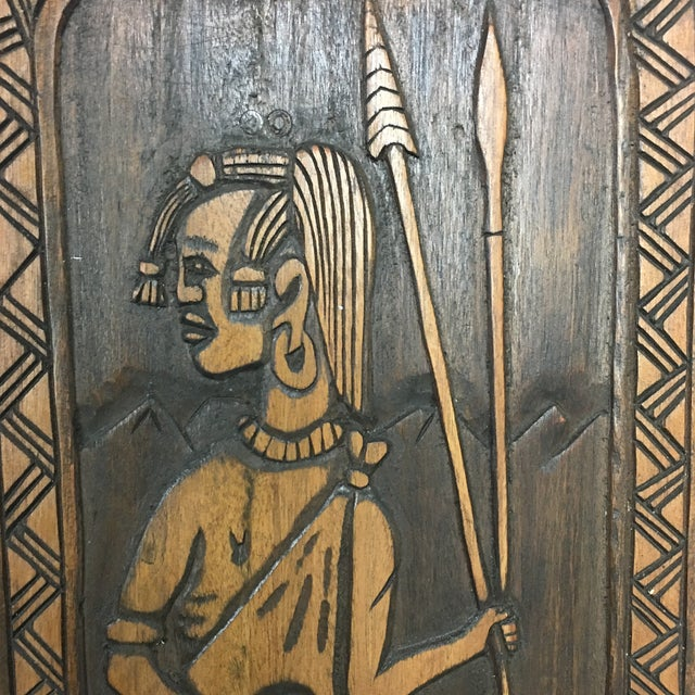Hand Crafted Wooden African Chair - Image 5 of 9