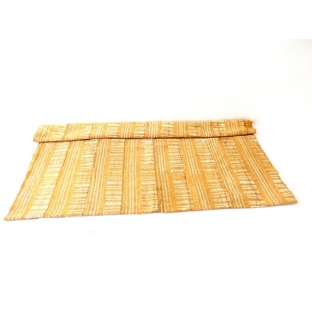 Mustard Bogolan Mud Cloth Textile - Image 4 of 8