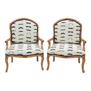 French Spectator Fauteuils - Pair