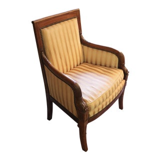 Empire Style Walnut Arm Chair