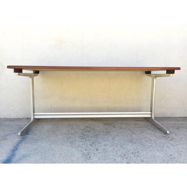 Mid-Century Industrial Metal & Walnut Desk - Image 6 of 11