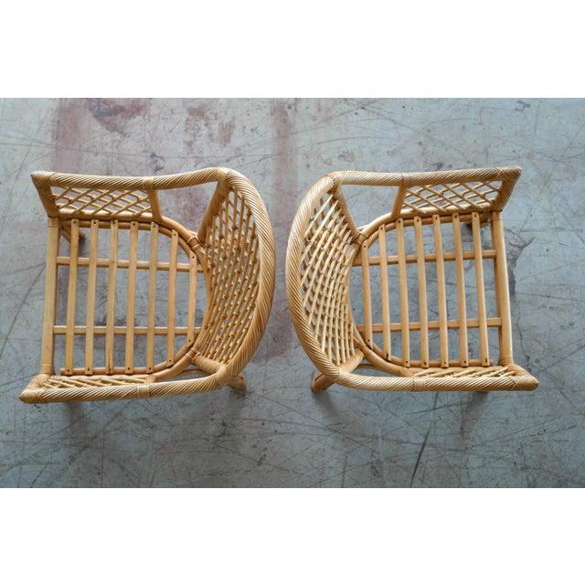 Image of Mid Century Modern Danish Rattan Armchairs - a Pair