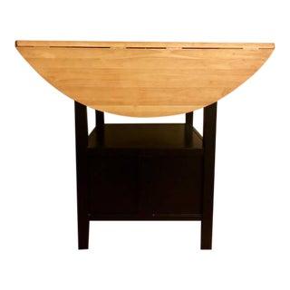 Crate & Barrel Black High Top Drop-Leaf Table