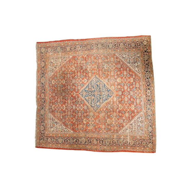 "Antique Mahal Square Carpet - 9'11"" x 9'8"" - Image 1 of 10"