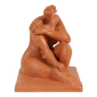 Mid-Late 20th Century Clay Figure Sculpture