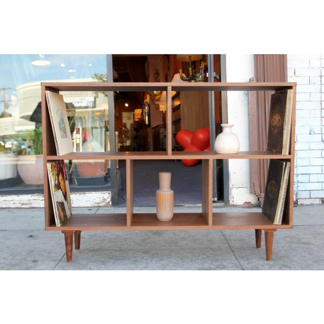 Modern Walnut Bookcase Shelf - Image 3 of 10