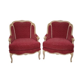 Stickley French Louis XV Style Bergere Chairs - A Pair