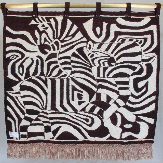 Large African Mohair Zebra Wall Hanging - Image 10 of 11