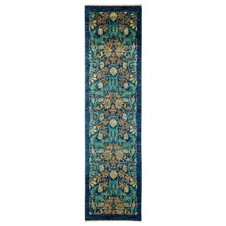 "Arts & Crafts Hand Knotted Runner - 2'7"" X 9'8"""