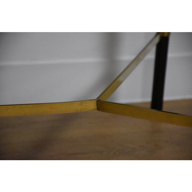 Black and Brass Dining Table by Paul McCobb - Image 9 of 10