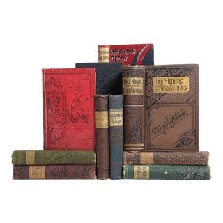 Ornate Antique Book Set - Set of 10