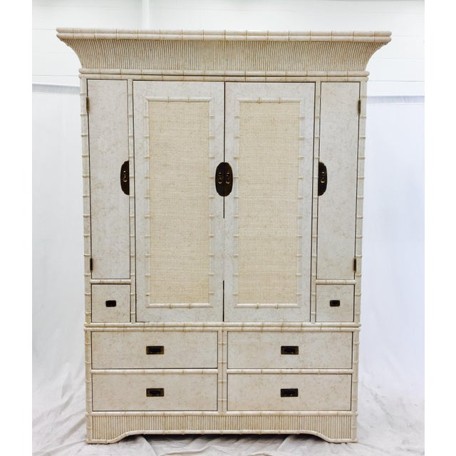 Faux Bamboo Dresser Cabinet by Ficks Reed - Image 3 of 11